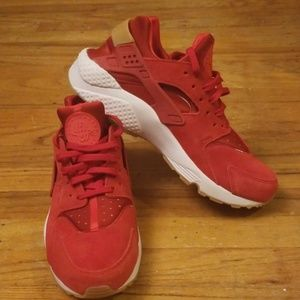 Red Suede Huarache